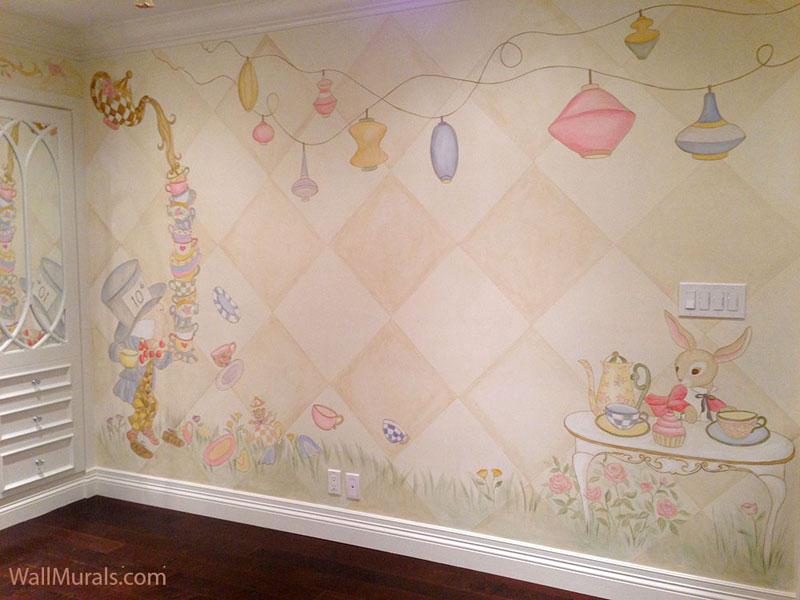 Vintage Mad Hatter Tea Party - Little Girls Bedroom