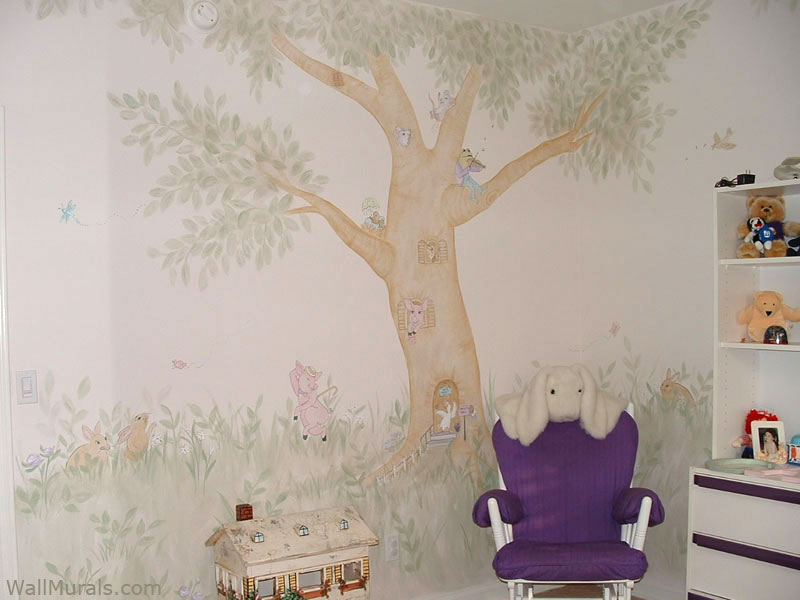Girls Room Wall Murals For