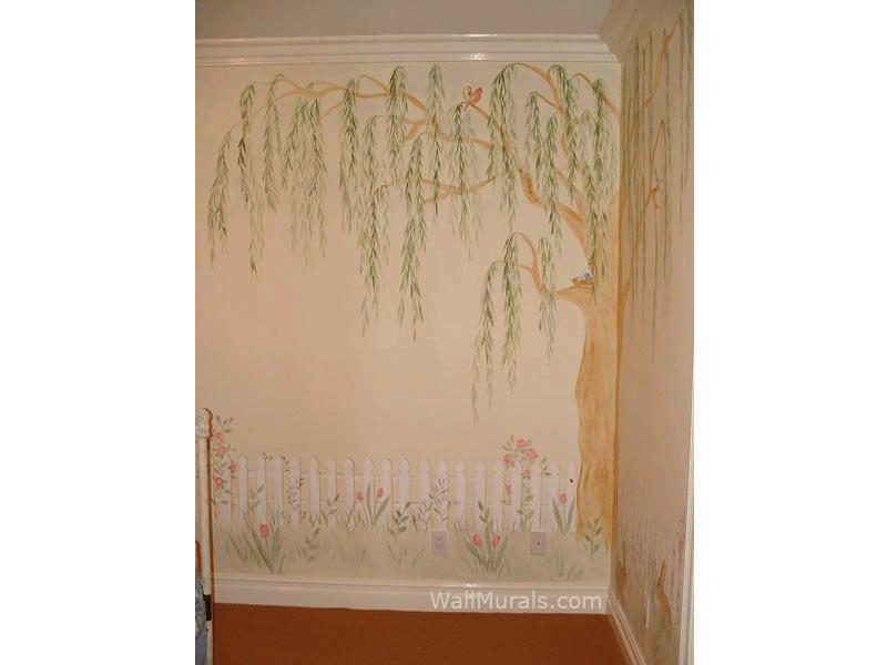 Willow Tree Mural in Girls Room