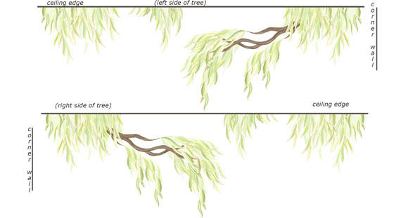 LARGE -Willow Tree Border Decal - Layout Sheet
