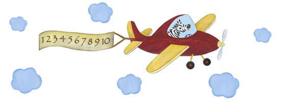 Captain Stripes - Zebra Pilot - Airplane Decal - Layout Sheet