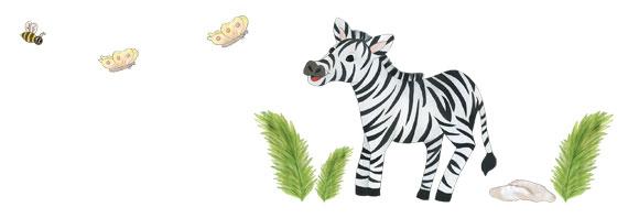 Zebra Wall Decals - Layout Sheet
