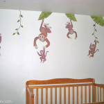 5 Little Monkey Wall Decals
