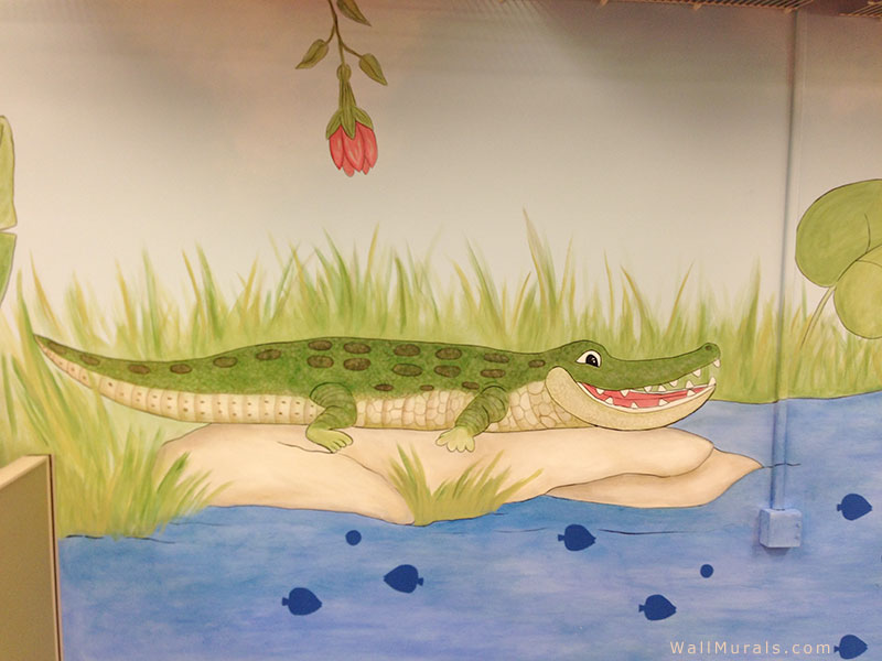 Crocodile Wall Mural