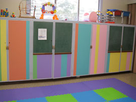 Painted Cabinets in Preschool