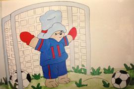 Soccer Teddy Bear - Goalie