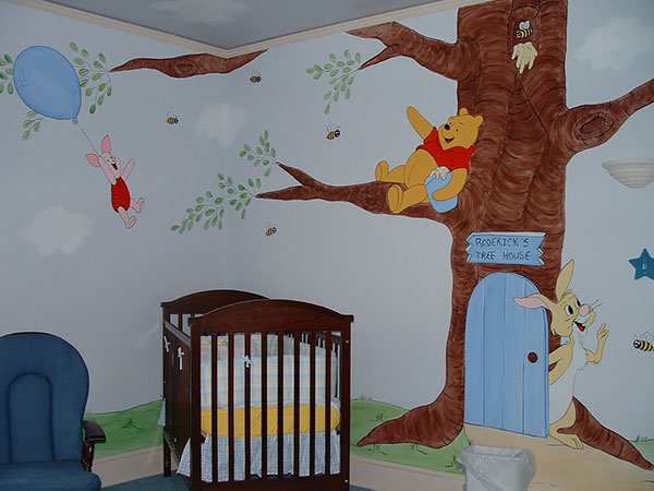 winnie the pooh baby nurserywall murals by colette. Black Bedroom Furniture Sets. Home Design Ideas