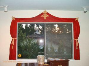 Painted Curtain around Window