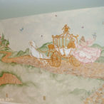 Castle Wall Mural with Princess