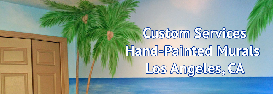 Custom Hand-Painted Wall Murals - Los Angeles - CA