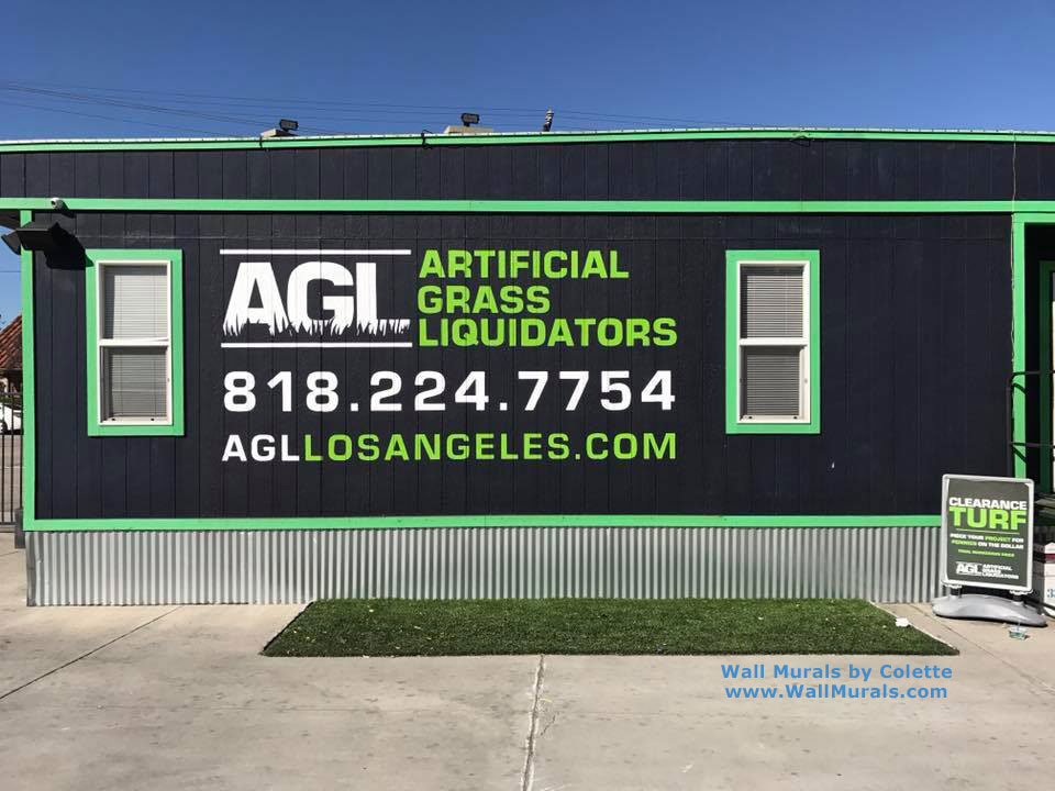 Company Logo Painted on Exterior Wall