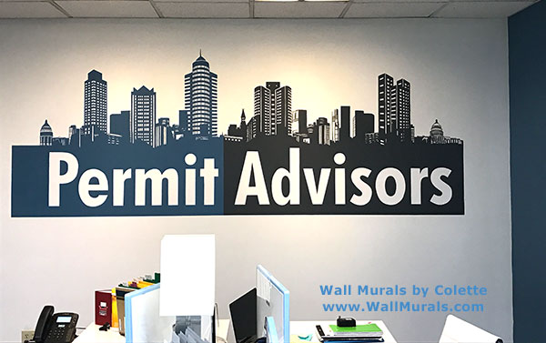 Painted Logos On Walls Corporate Murals Wall Murals By