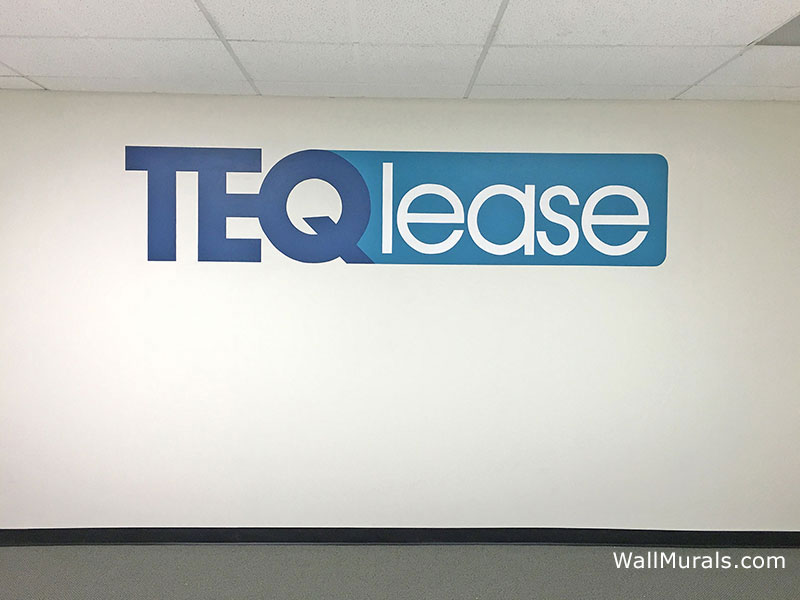Painted Logo on Interior Wall of Office