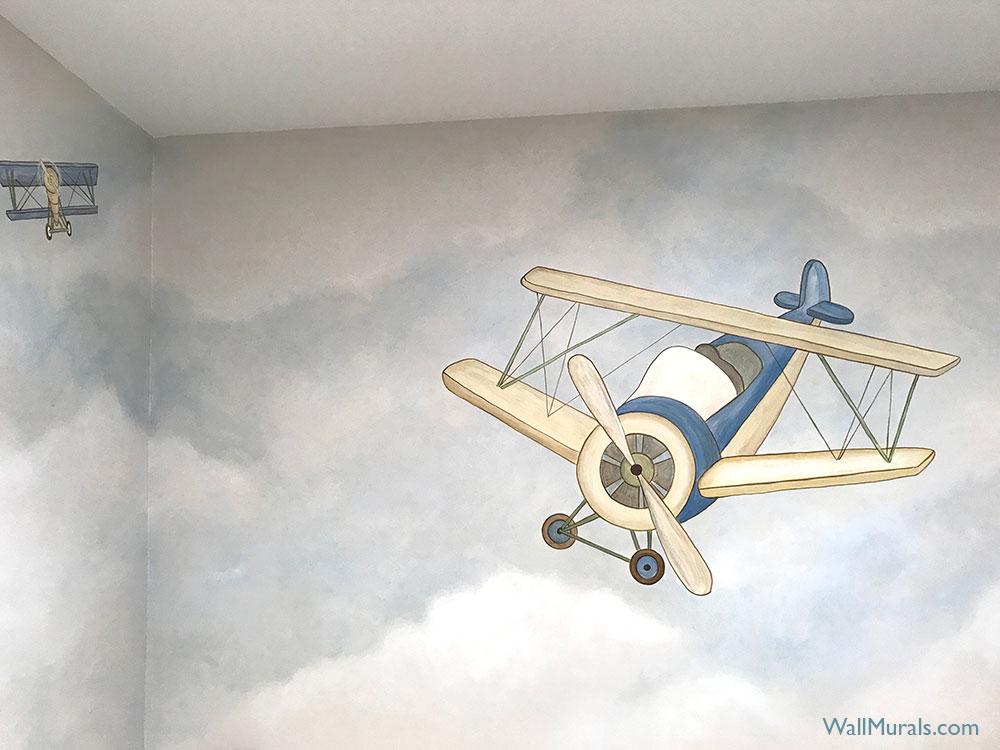 Airplane Mural Nursery