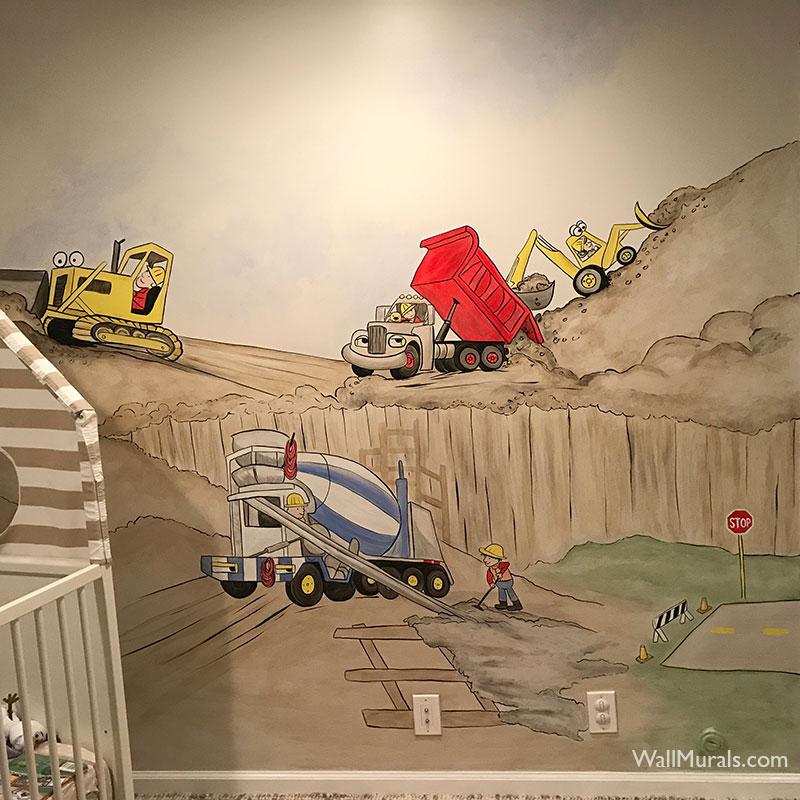 Construction Theme Mural