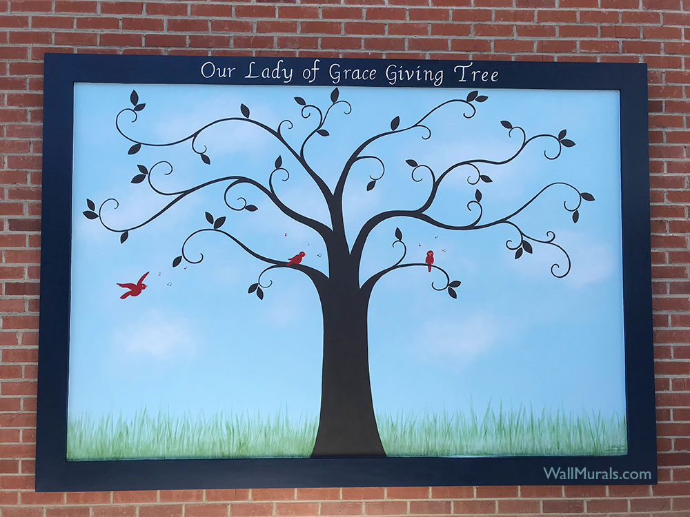 Giving Tree Mural at Church