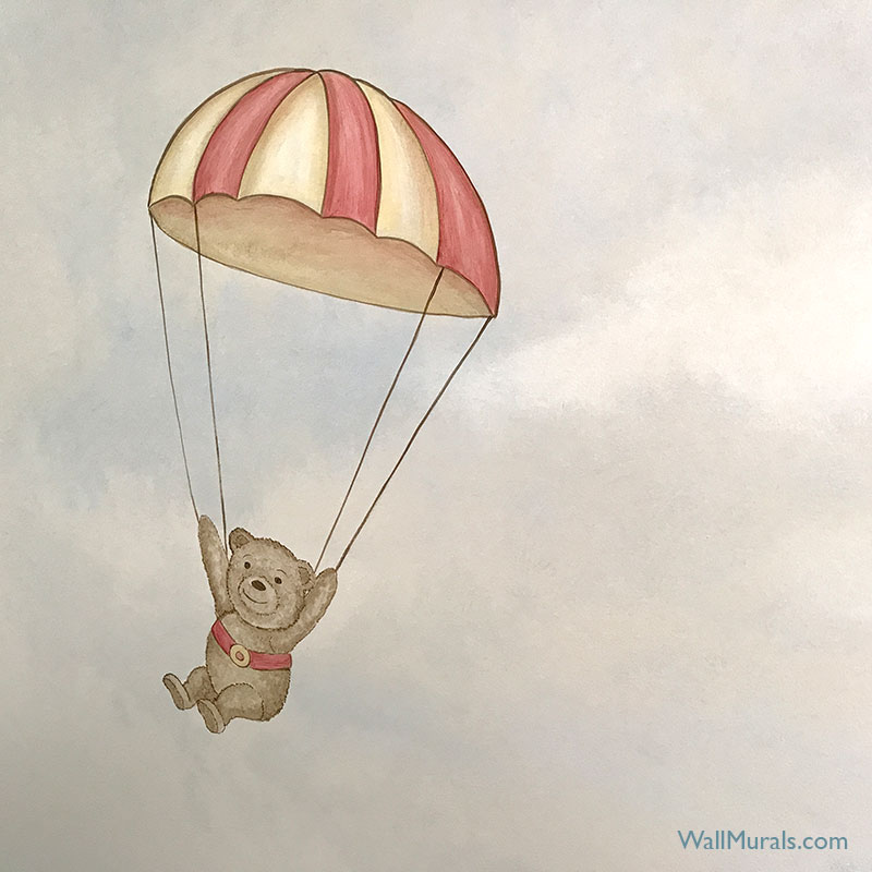 Parachuting Teddy Bear Mural